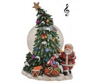 """Музыкальный снежный шар""""Дед Мороз в кресле/ Дед Мороз на лошадке"""""""