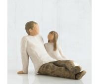 "Статуэтка ""Father and Daughter/ Отец и дочь"" от Susan Lordi Willow Tree Enesco"