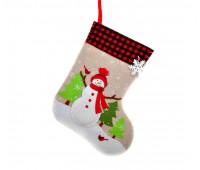 Рождественский носок Снеговик/ Дед Мороз