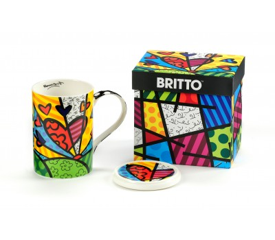 Чашка с крышечкой a New Day от Ромеро Бритто