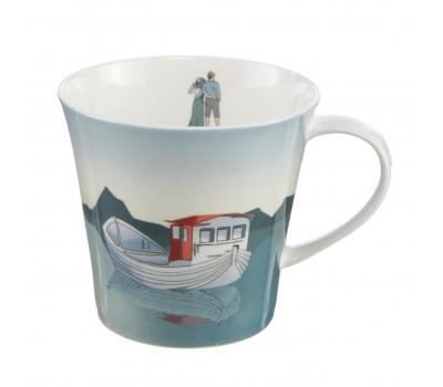"Фарфоровая чашка ""Fishing Boat"" Scandic home Goebel"