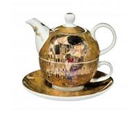 """Набор чайник-чашка """"Поцелуй"""" Густав Климт Goebel"""