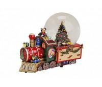 """Снежный шар """"Рождественский поезд"""" с музыкой"""