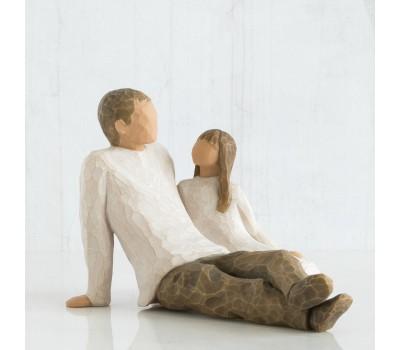 "Статуэтка ""Father and Daughter"" от Susan Lordi Willow Tree Enesco"