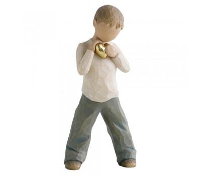 """Статуэтка """"Heart of Gold - Boy""""/ """"Золотое сердце - Мальчик"""" от Susan Lordi Willow tree"""